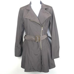 KENNETH COLE Khaki Belted Waist Trench Coat